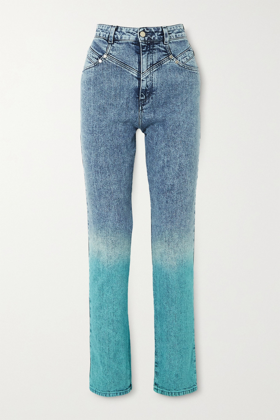 Stella McCartney Dégradé high-rise straight-leg jeans
