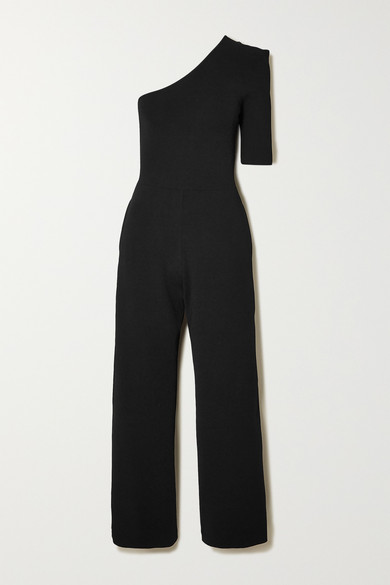 One Sleeve Knit Jumpsuit
