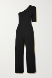 + NET SUSTAIN one-sleeve stretch-knit jumpsuit