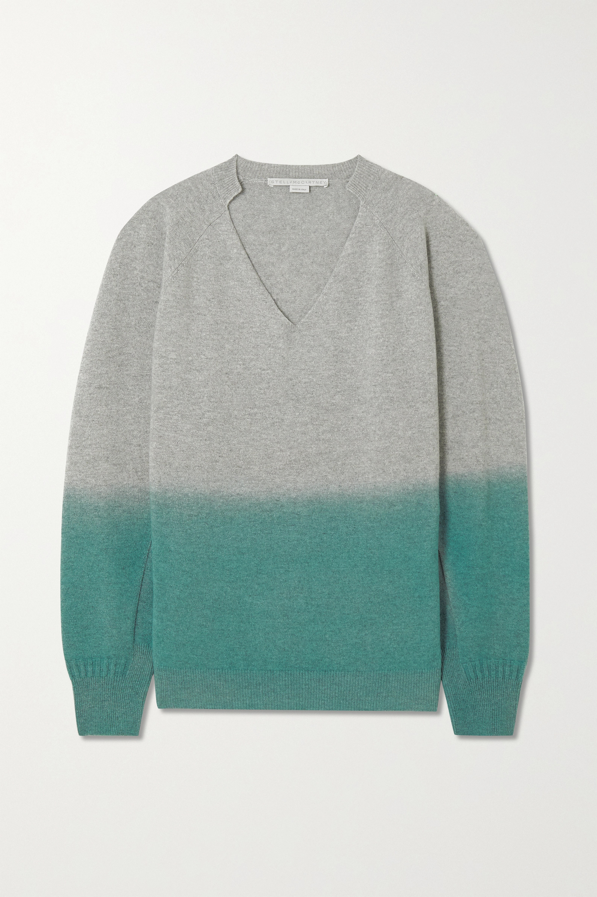 Stella McCartney Oversized ombré cashmere and wool-blend sweater
