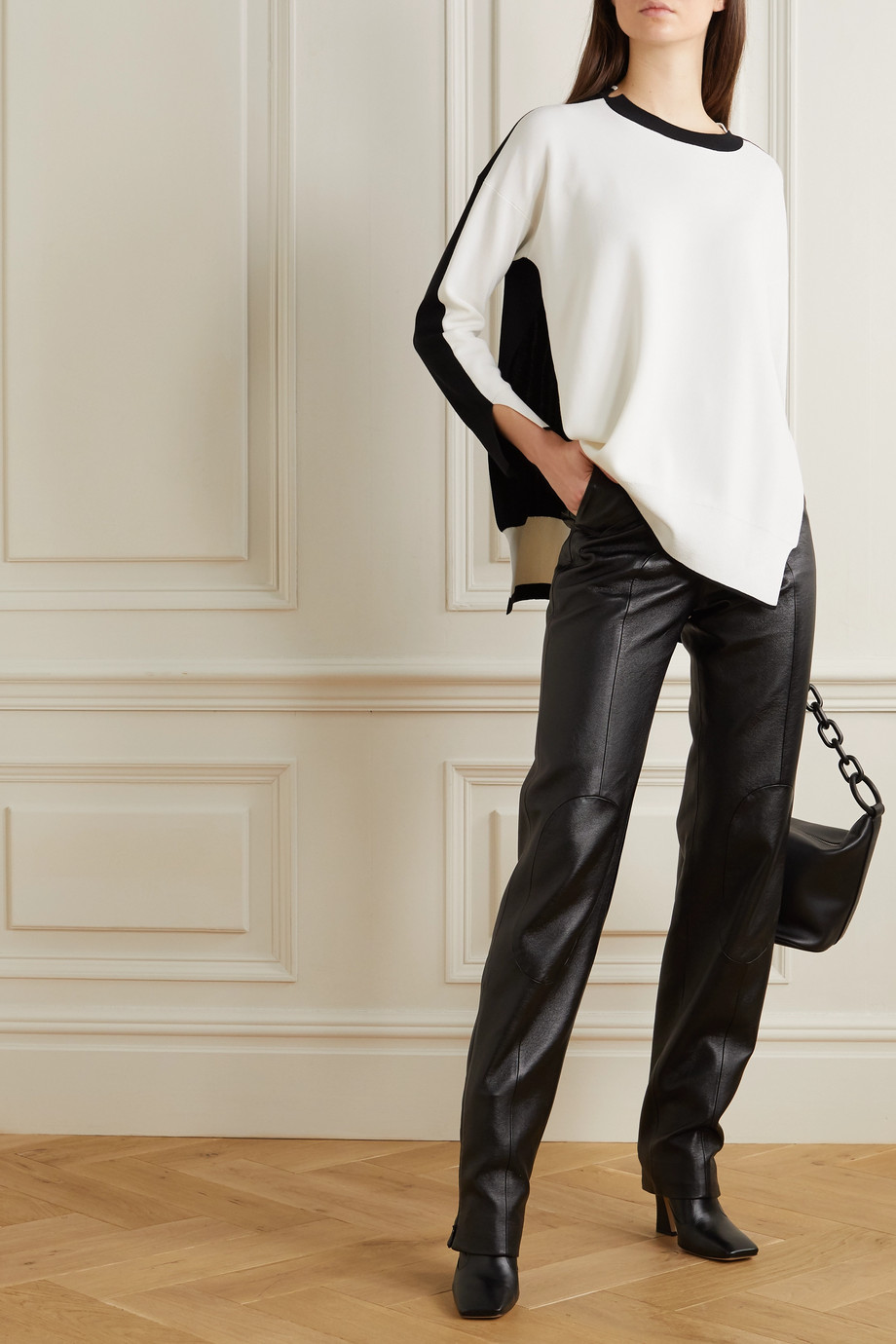 Stella McCartney Two-tone knitted sweater