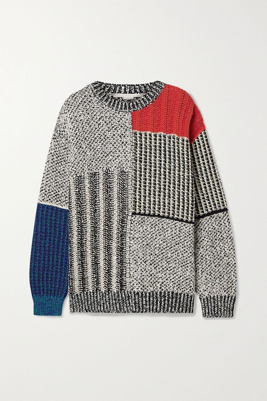 Stella McCartney Patchwork oversized knitted sweater