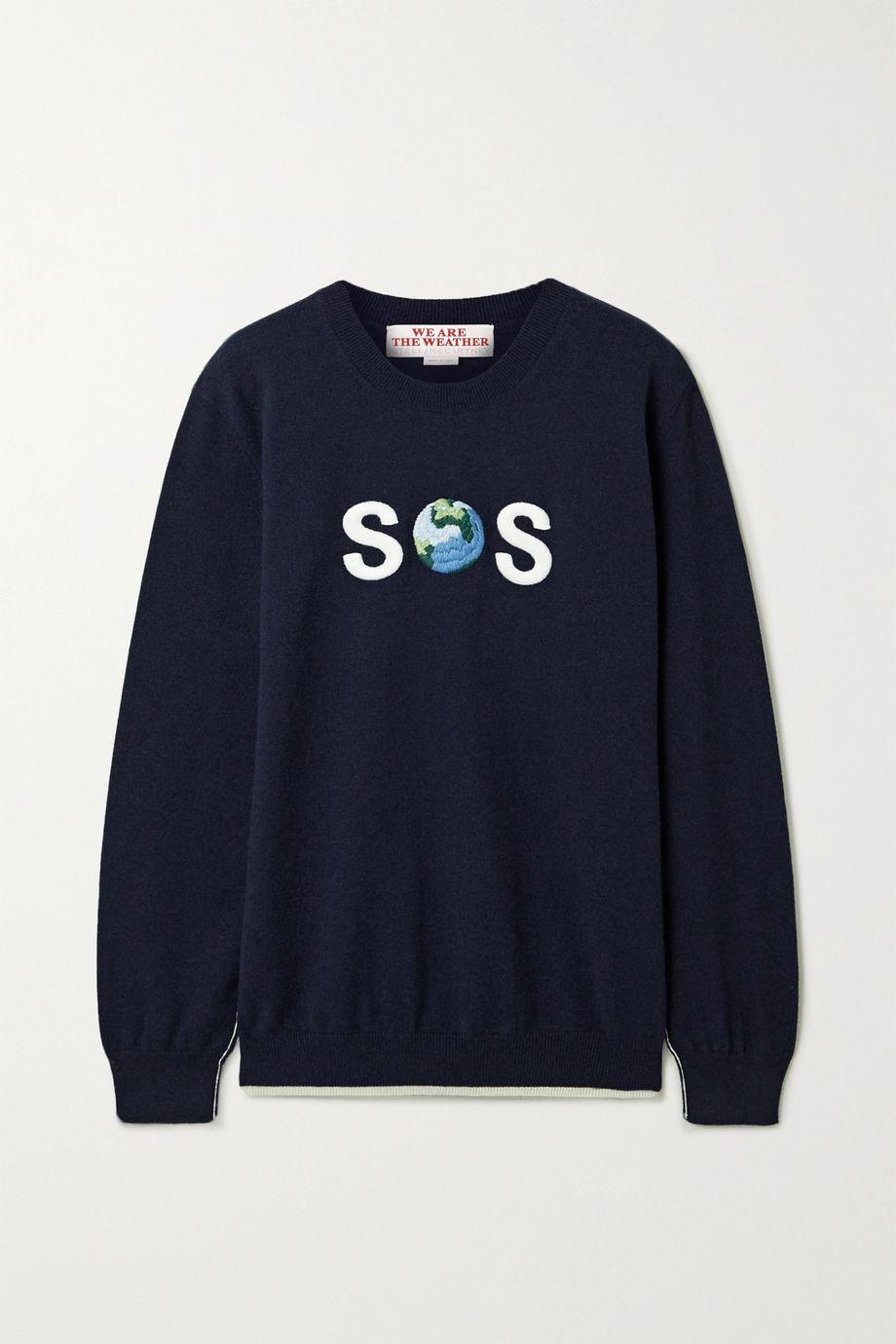 Stella McCartney SOS bestickter Pullover aus einer Kaschmir-Wollmischung