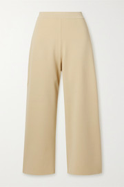 + NET SUSTAIN stretch-knit culottes