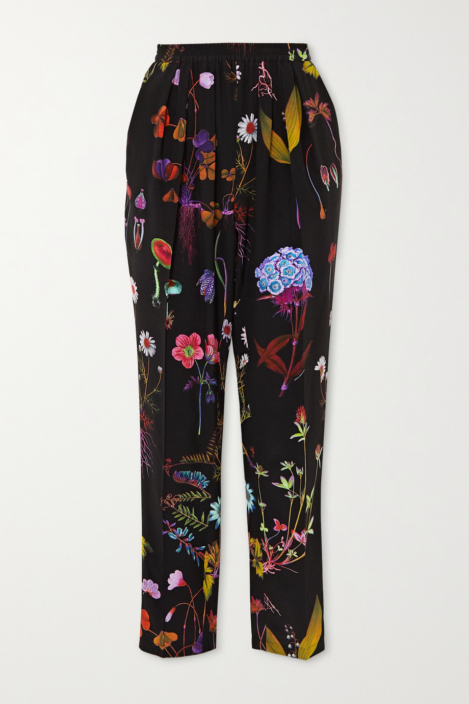 Stella McCartney Christine floral-print silk-crepe straight-leg pants