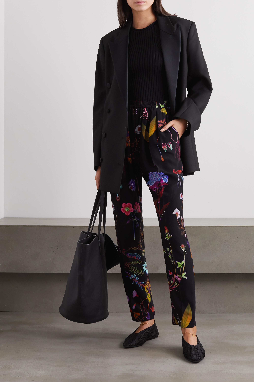 Stella McCartney Christine floral-print silk-crepe straight-leg pants