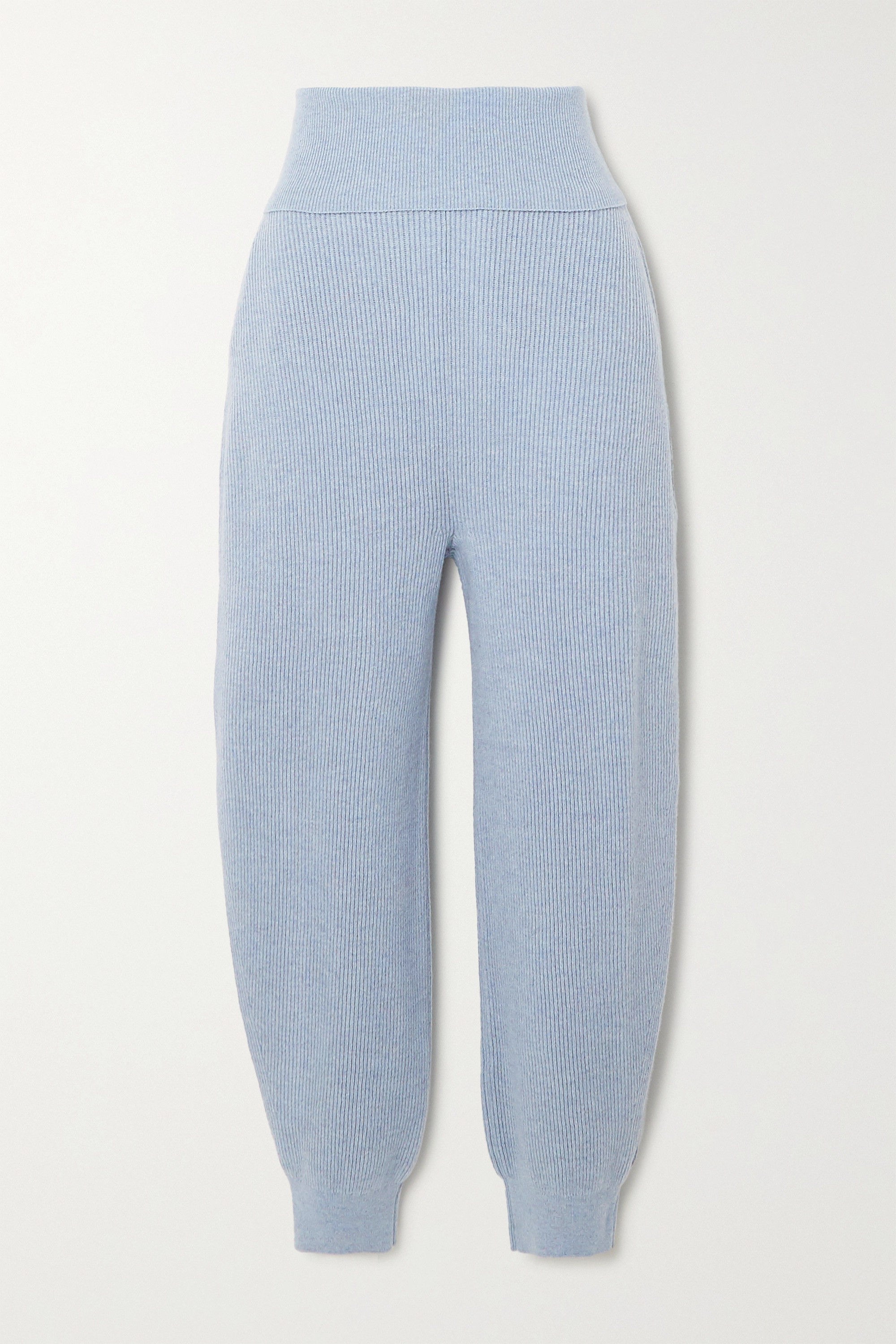 Stella McCartney Ribbed cashmere and wool-blend tapered pants