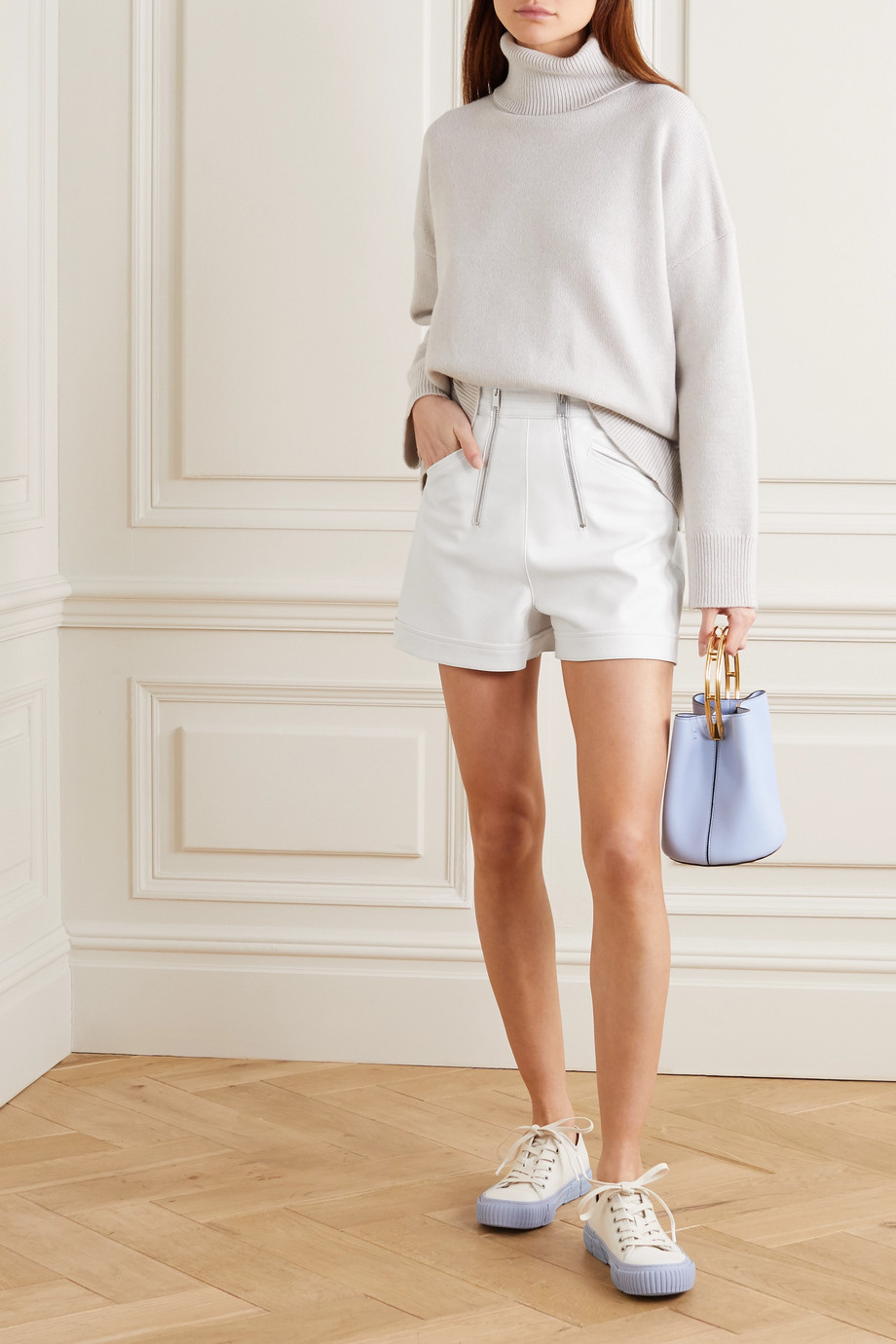 Stella McCartney Vegetarian leather shorts