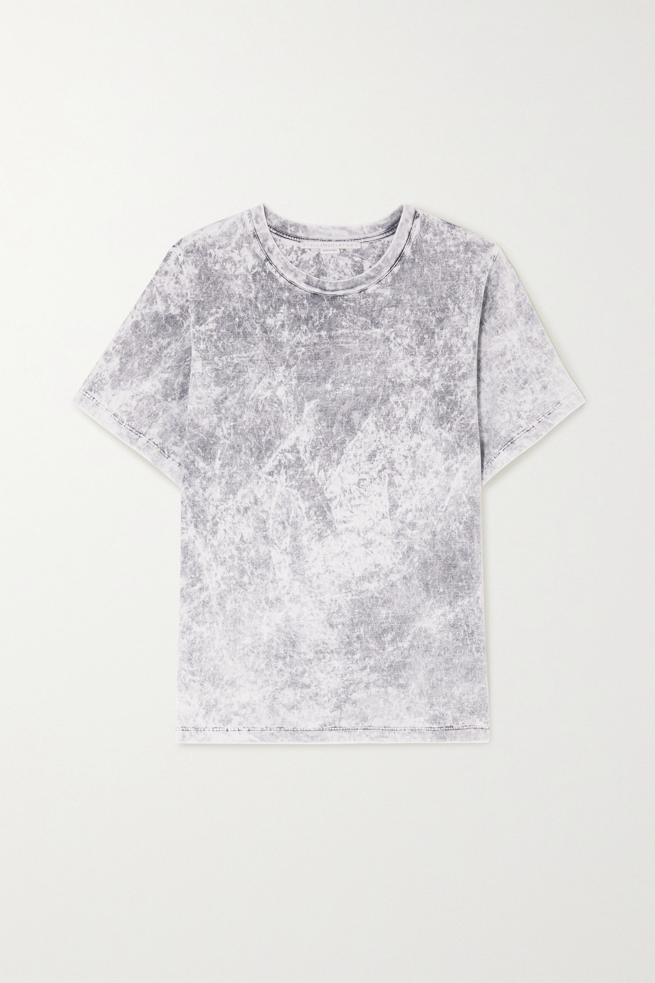 Stella McCartney Embossed acid-wash organic cotton-jersey T-shirt