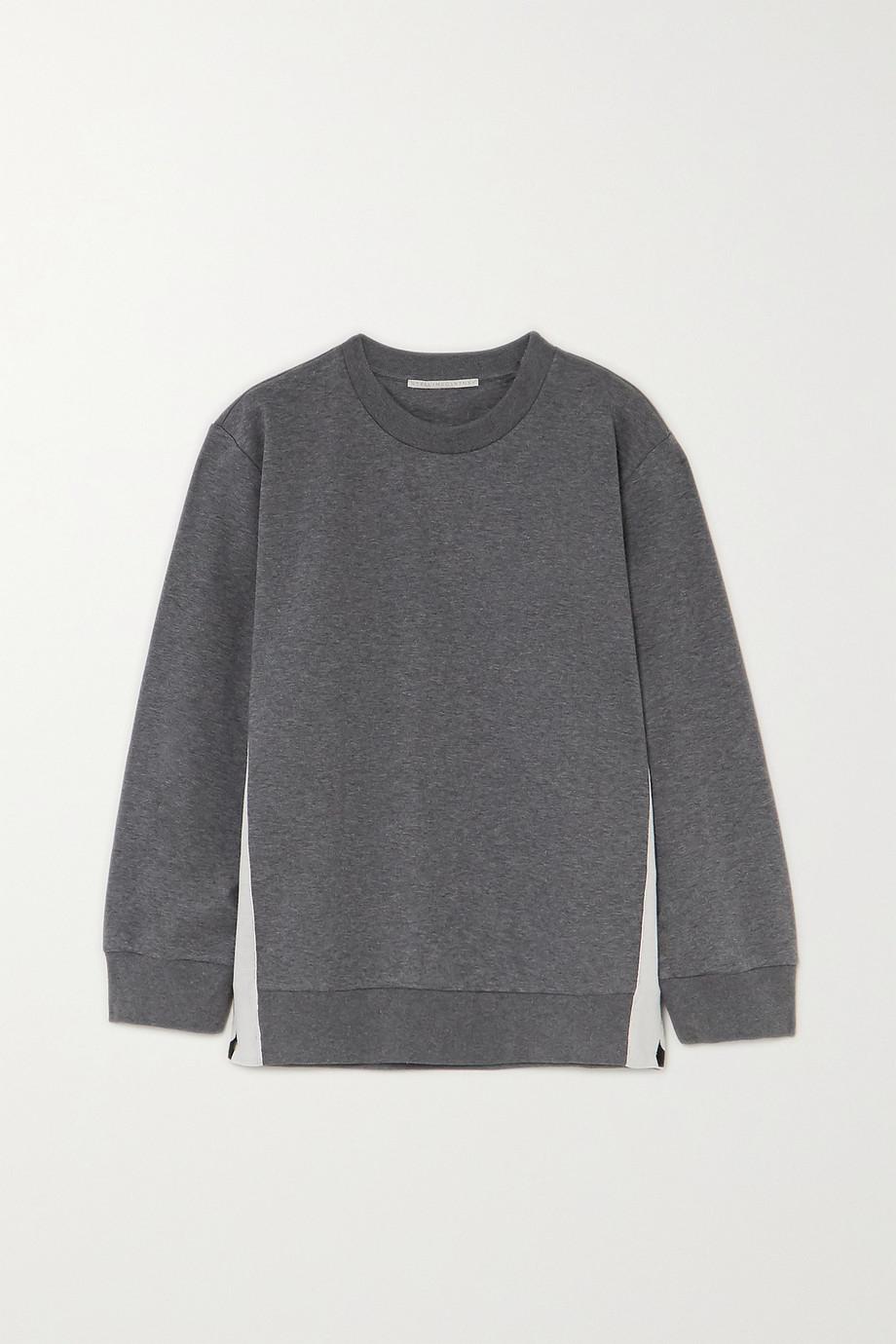 Stella McCartney Paneled jersey sweatshirt