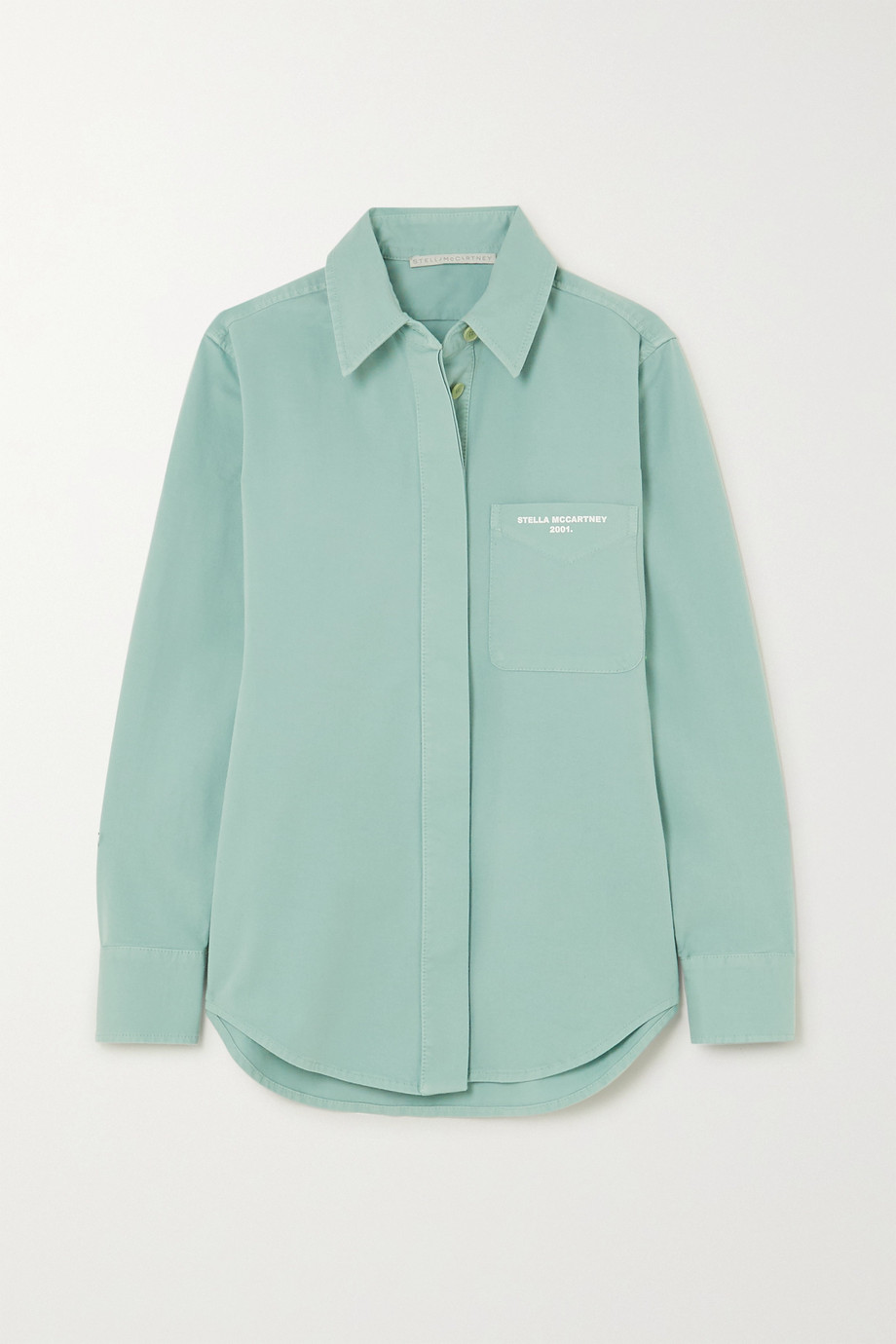 Stella McCartney Printed stretch-cotton twill shirt