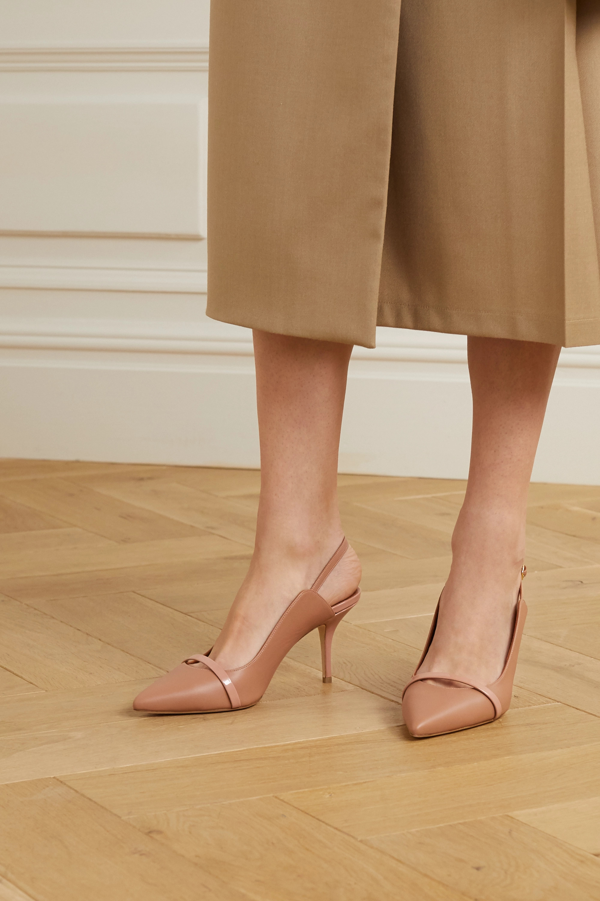 Malone Souliers Marion 70 leather slingback pumps