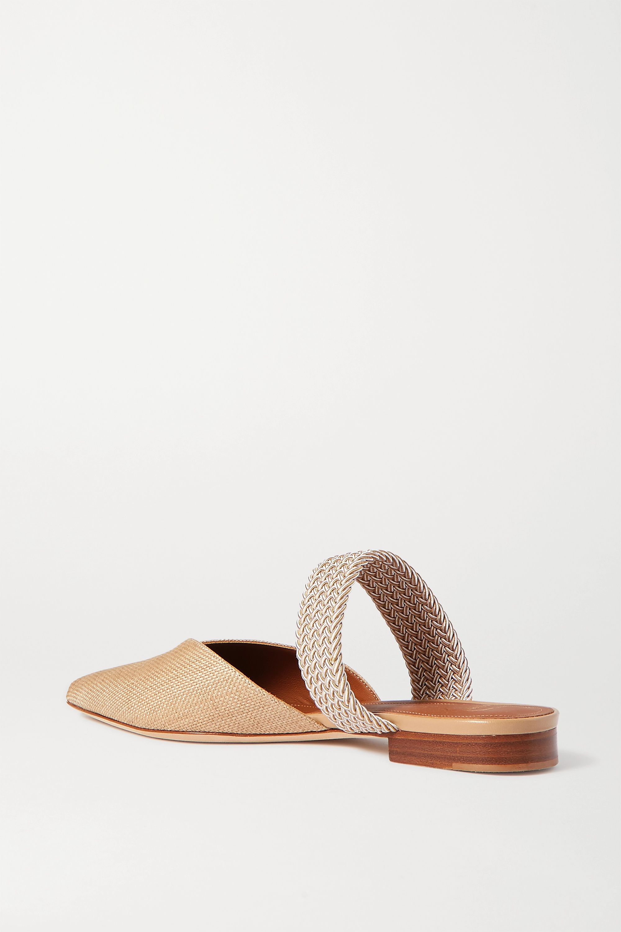 Malone Souliers Maisie cord-trimmed raffia point-toe flats