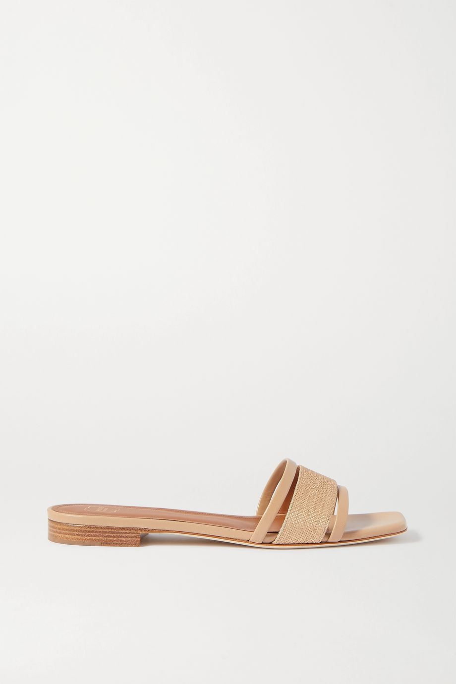 Malone Souliers Demi raffia and leather sandals