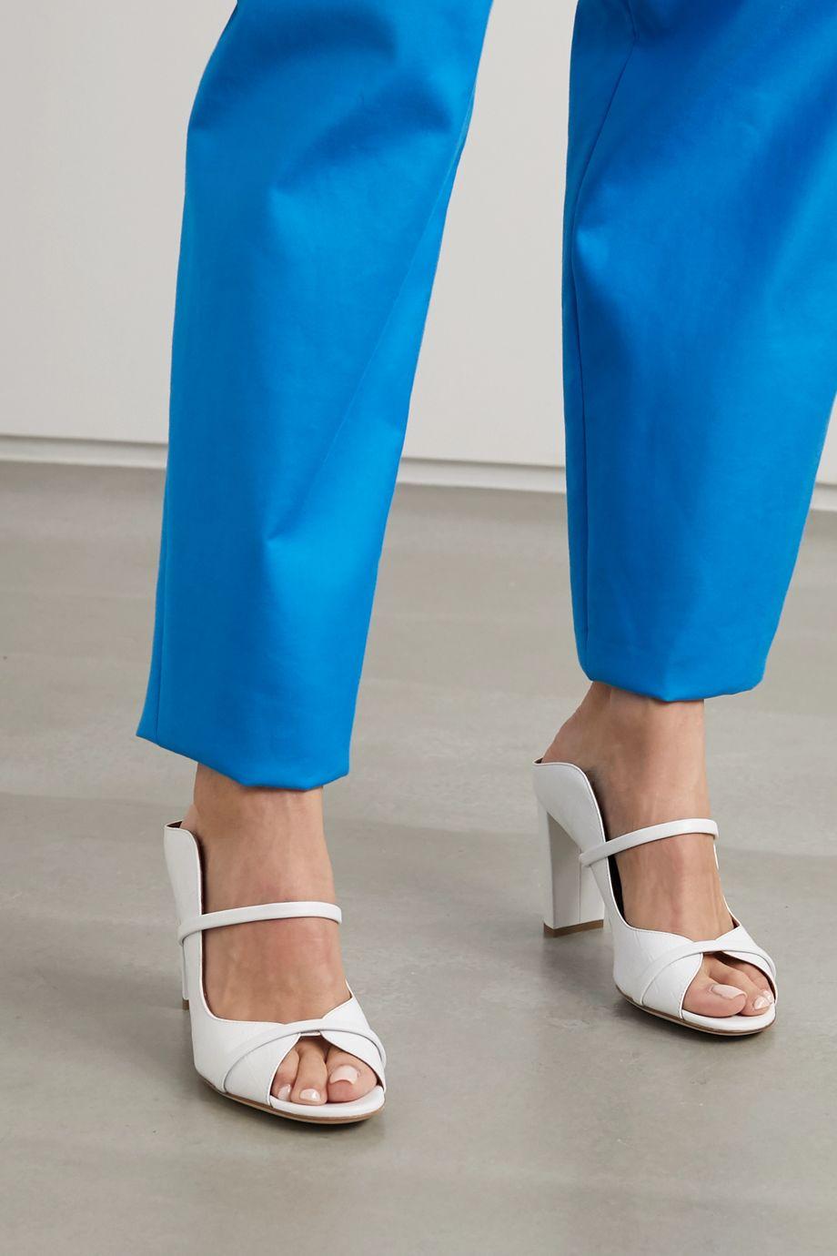 Malone Souliers Norah 85 croc-effect leather sandals