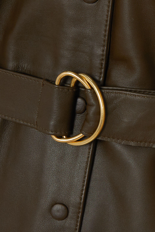 REMAIN Birger Christensen Puglia belted leather dress