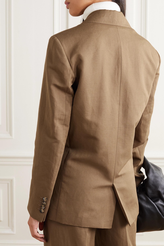 REMAIN Birger Christensen Debbie double-breasted linen and cotton-blend blazer