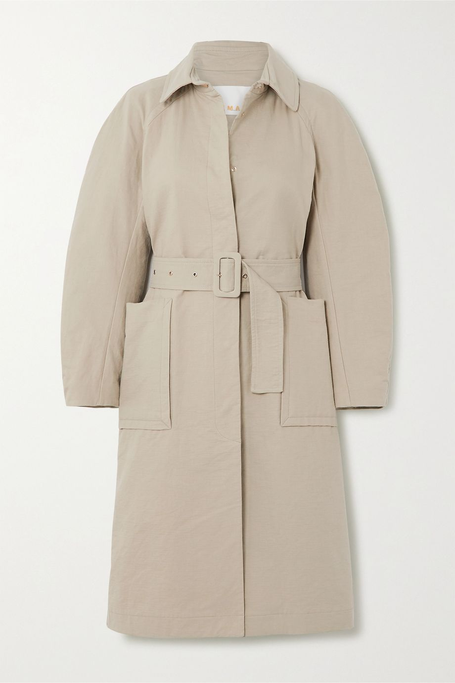 REMAIN Birger Christensen Elba belted cotton-blend coat