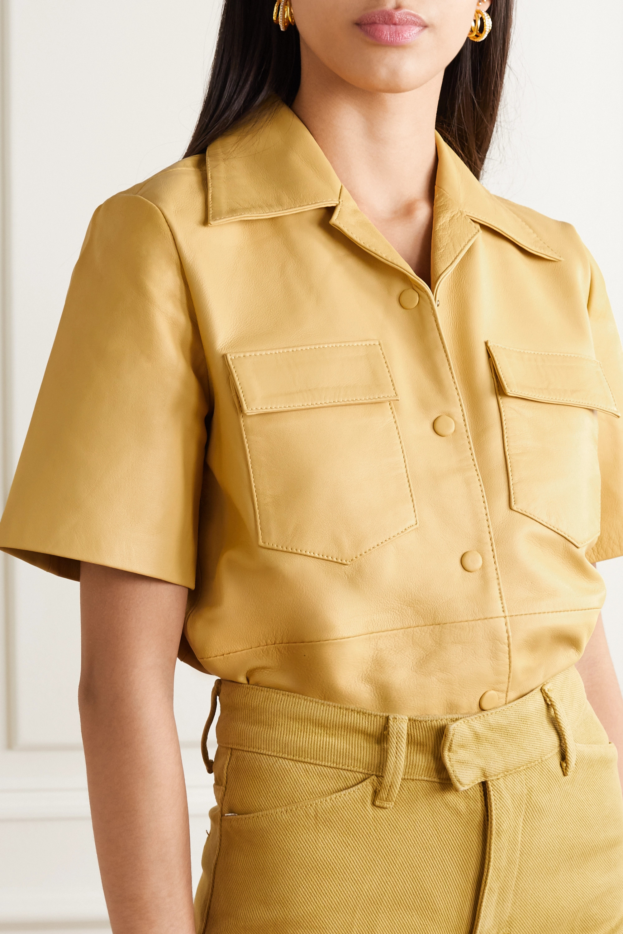 REMAIN Birger Christensen Siena leather shirt