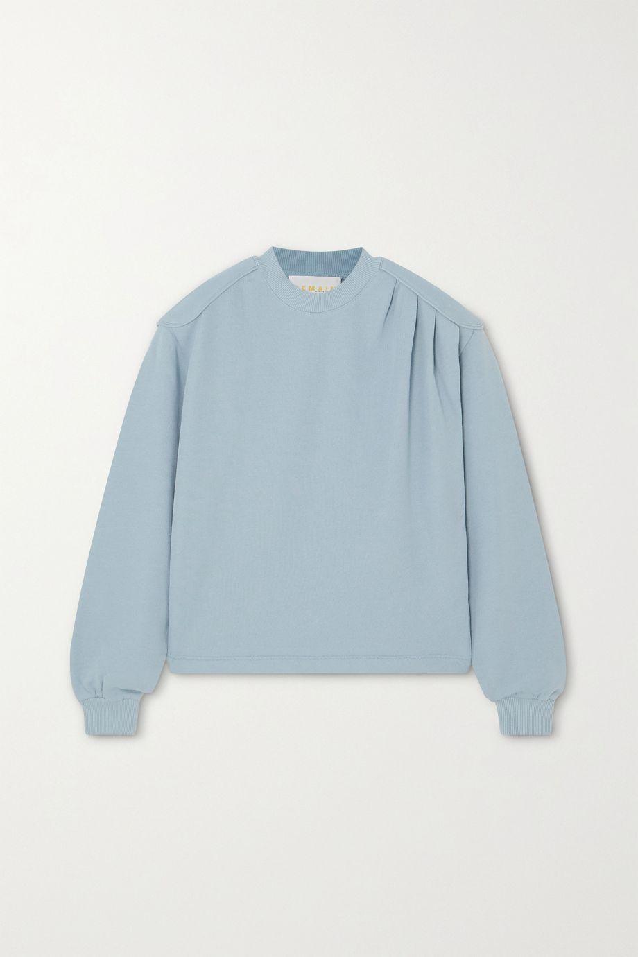 REMAIN Birger Christensen Rimini gathered cotton-jersey sweatshirt
