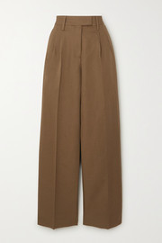 Camino cotton and linen-blend tapered pants