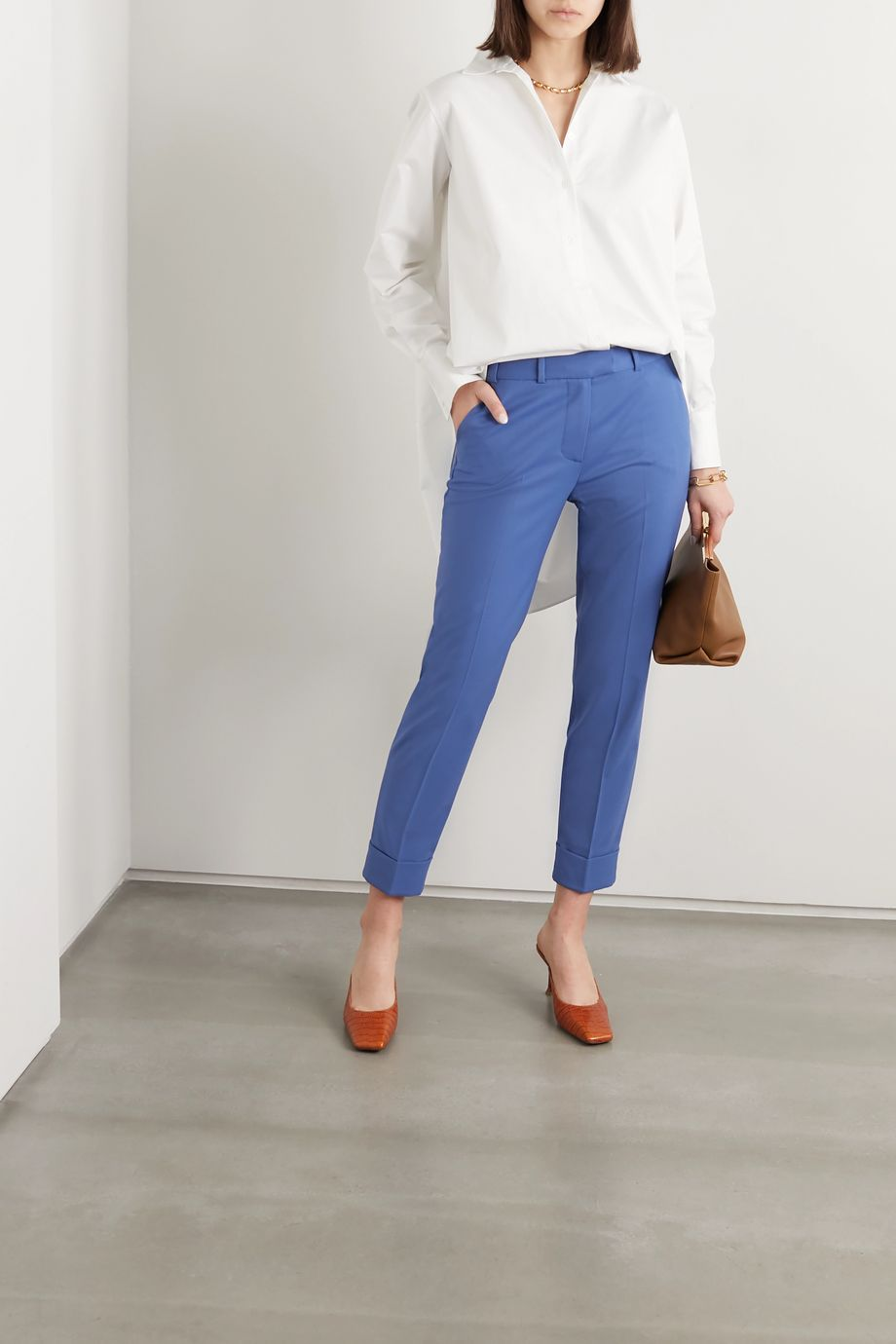 Cefinn Clement cropped twill slim-fit pants