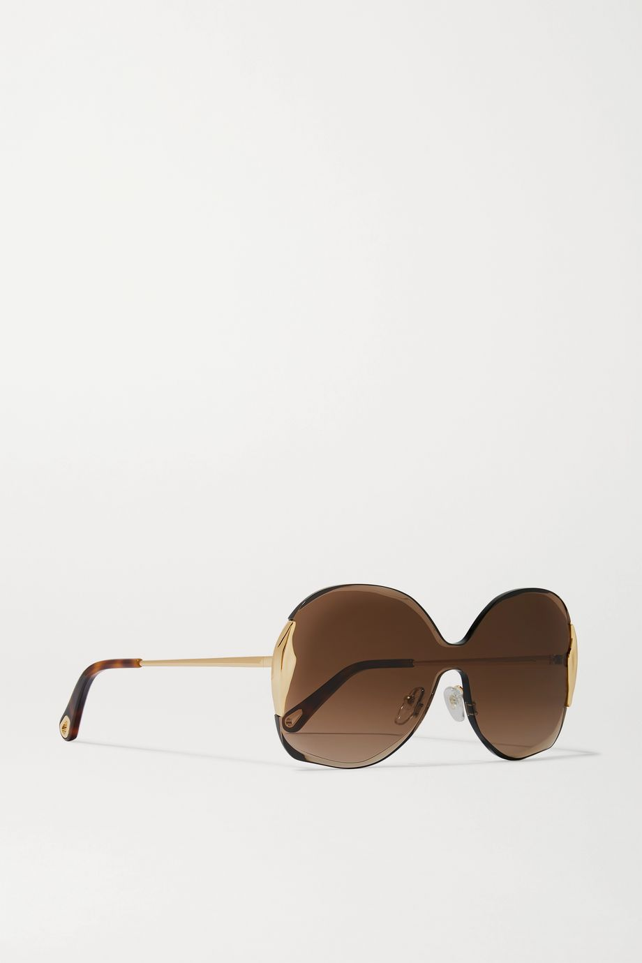 Chloé Curtis square-frame gold-tone and tortoiseshell acetate sunglasses