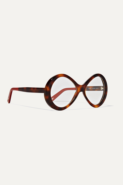 Chloé Bonnie round-frame tortoiseshell acetate optical glasses