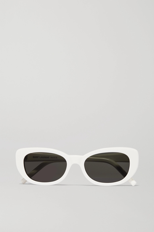 SAINT LAURENT Betty square-frame acetate sunglasses