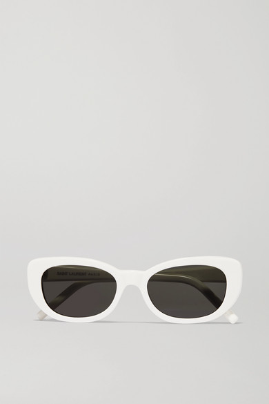 SAINT LAURENT - Betty Square-frame Acetate Sunglasses - White