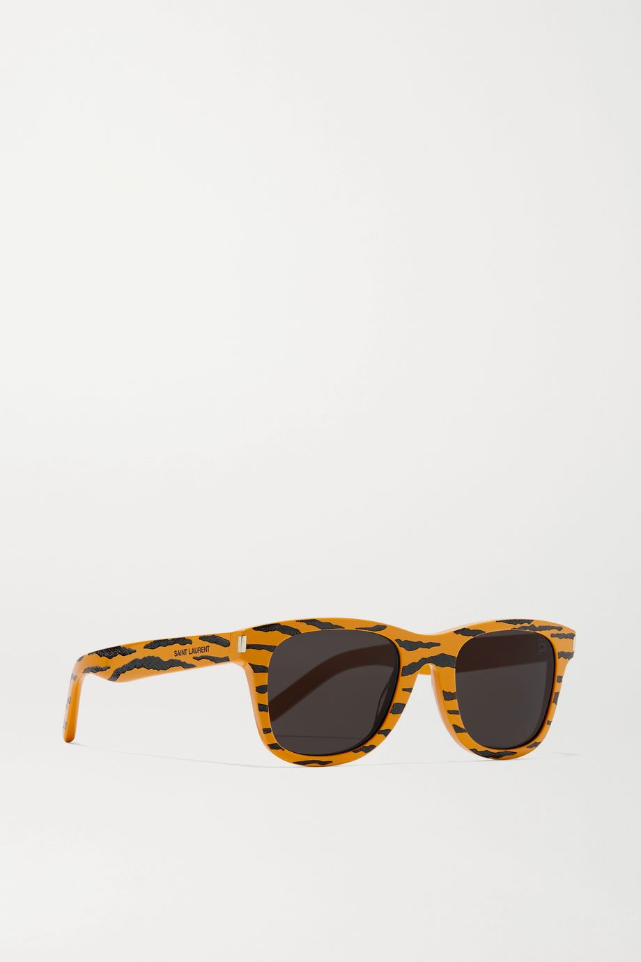 SAINT LAURENT Square-frame tiger-print acetate sunglasses