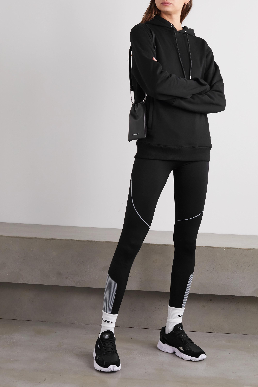 Paco Rabanne Sweat à capuche en jersey de coton imprimé Bodyline