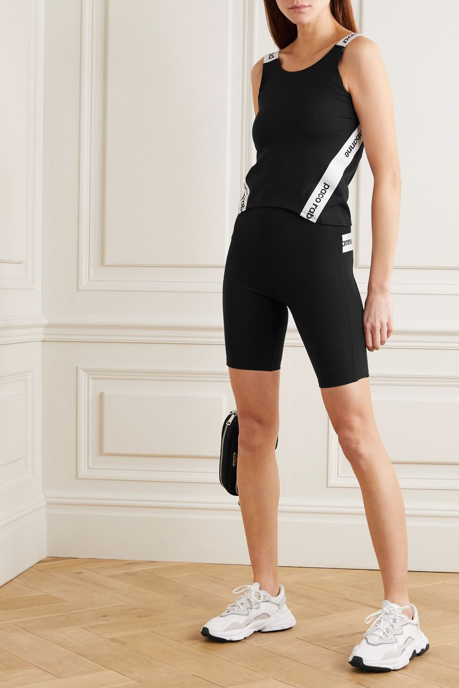 Paco Rabanne Milano printed stretch-jersey shorts