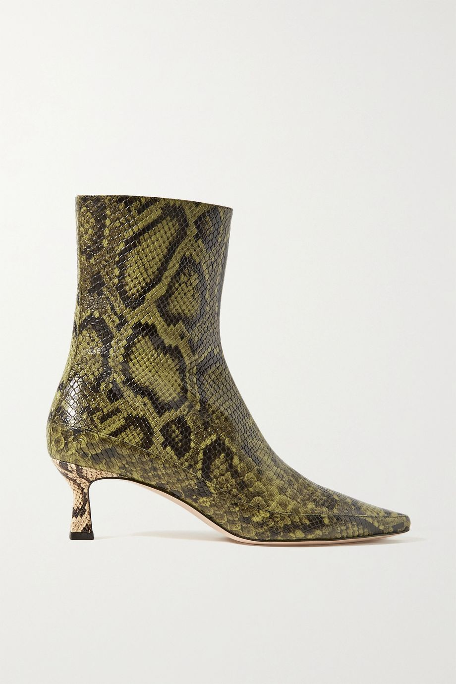 Wandler Bente snake-effect leather ankle boots