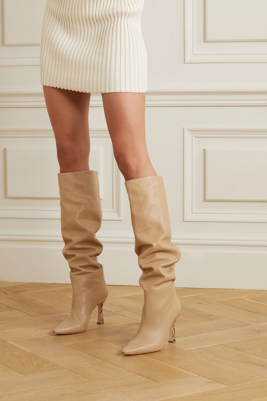 Wandler Lina leather knee boots