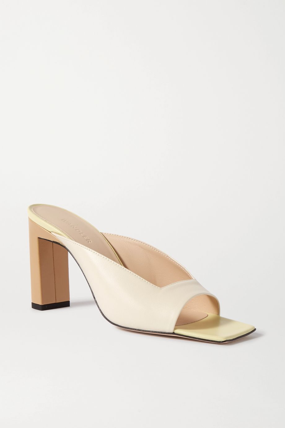 Wandler Isa color-block leather mules