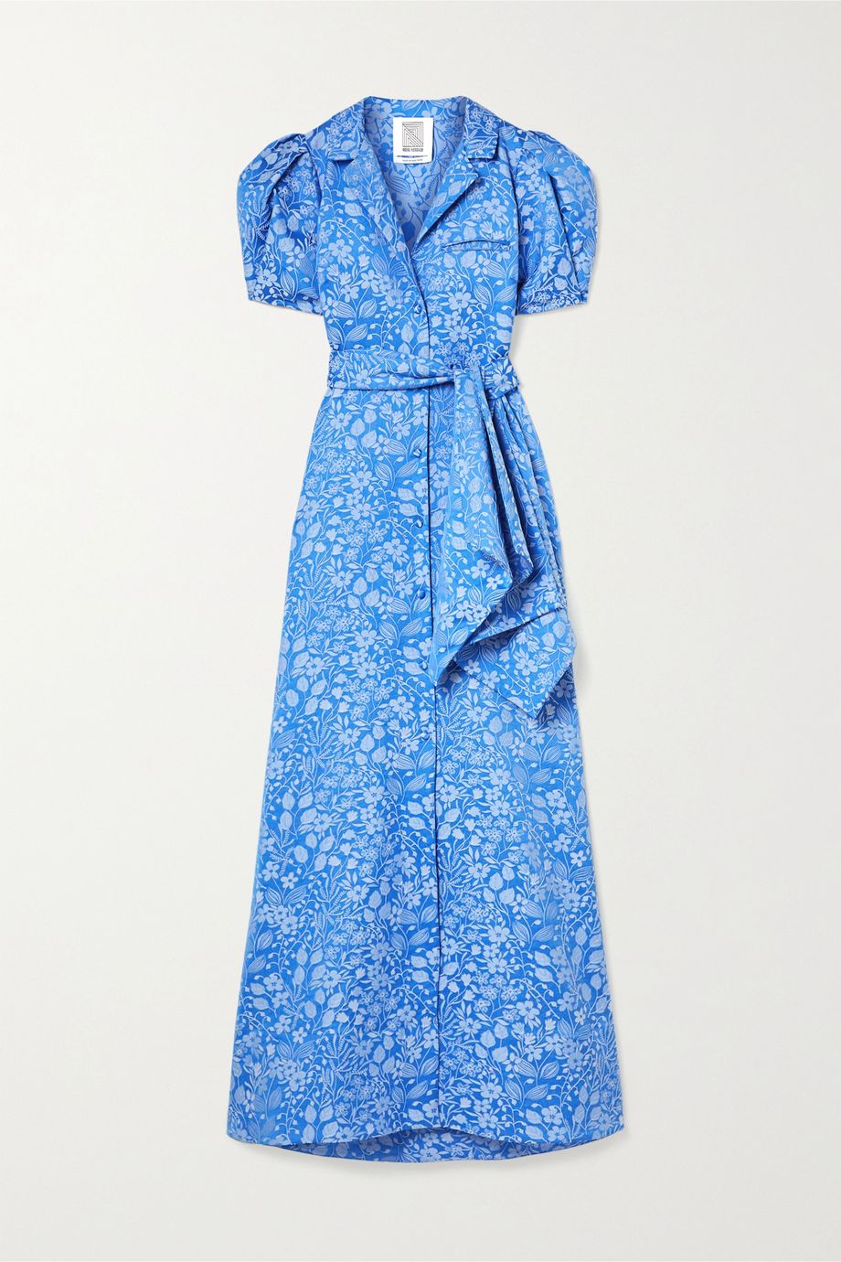 Rosie Assoulin Belted floral-jacquard maxi dress