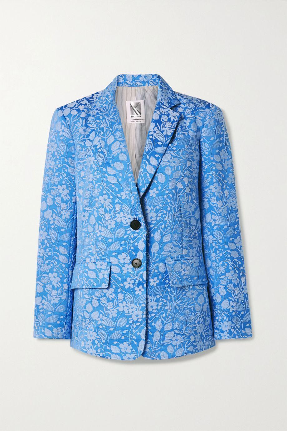 Rosie Assoulin Floral-jacquard blazer