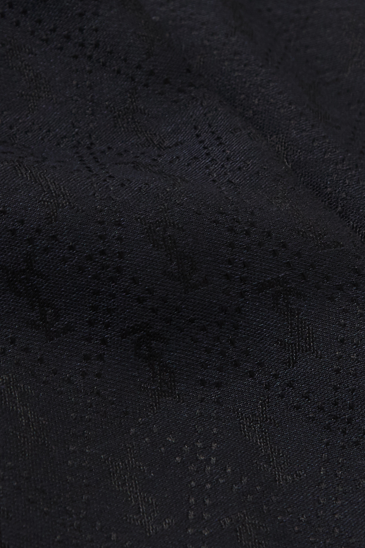 SAINT LAURENT Fringed silk and wool-blend jacquard scarf