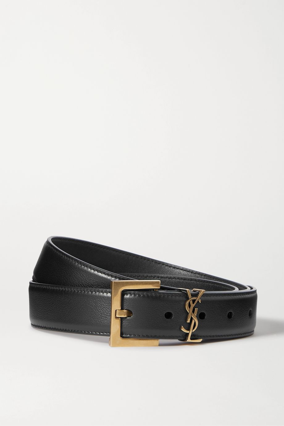 SAINT LAURENT Embellished leather belt