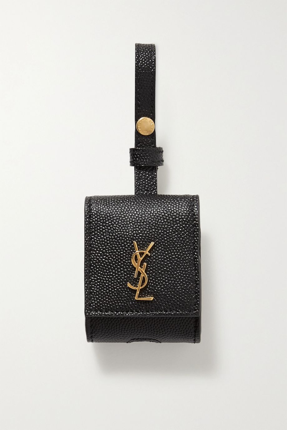 SAINT LAURENT Textured-leather AirPods case