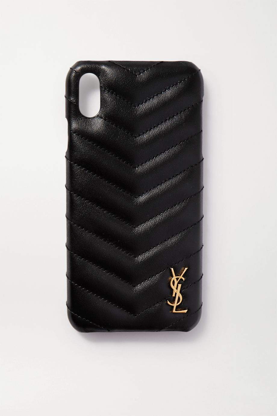 SAINT LAURENT Embellished quilted leather iPhone XS Max case