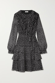 Jason Wu Belted ruffled polka-dot silk-crepon dress