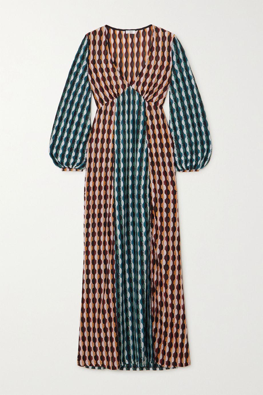 RIXO Phoebe crochet-knit midi dress