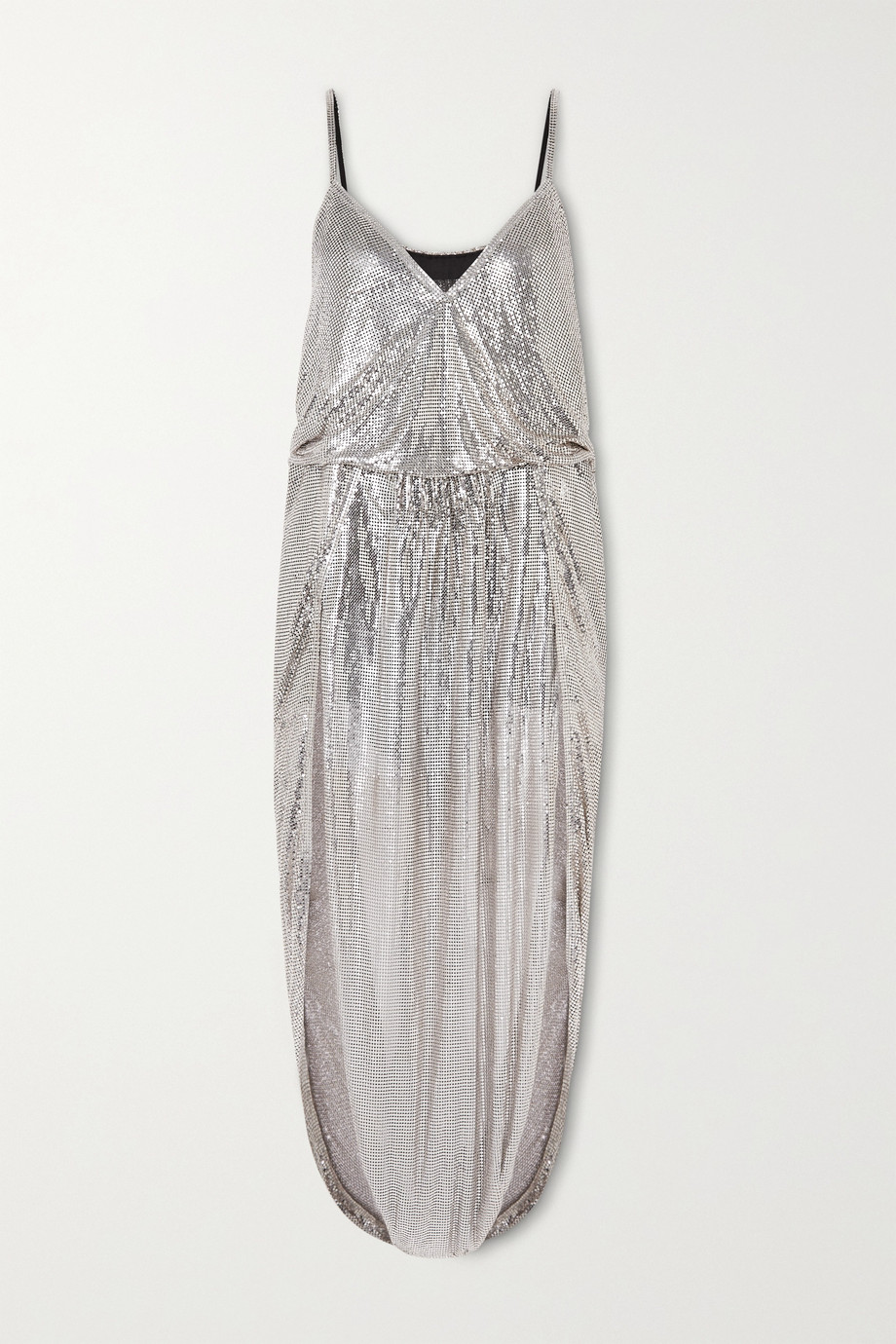 SAINT LAURENT Draped chainmail gown