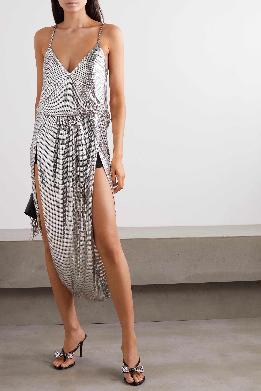 SAINT LAURENT Draped chainmail gown