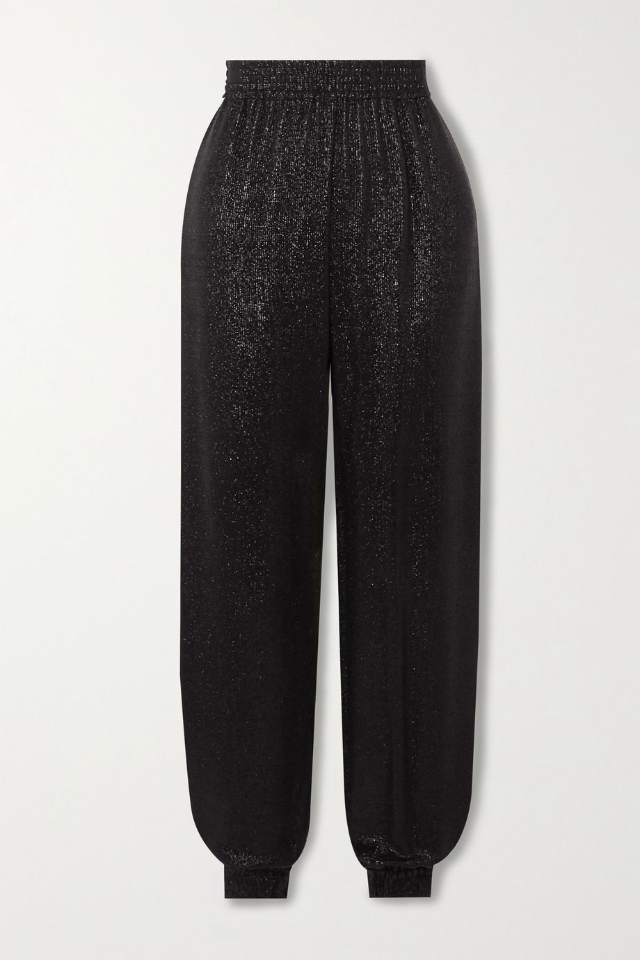 SAINT LAURENT Metallic knitted track pants