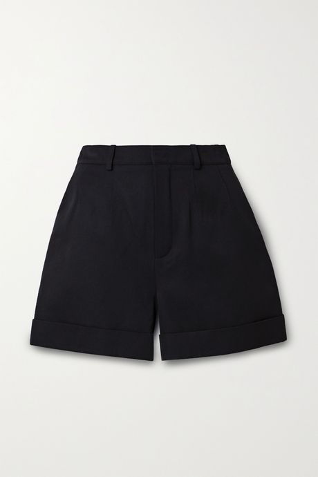 Black Wool-twill shorts | SAINT LAURENT Eyrpih