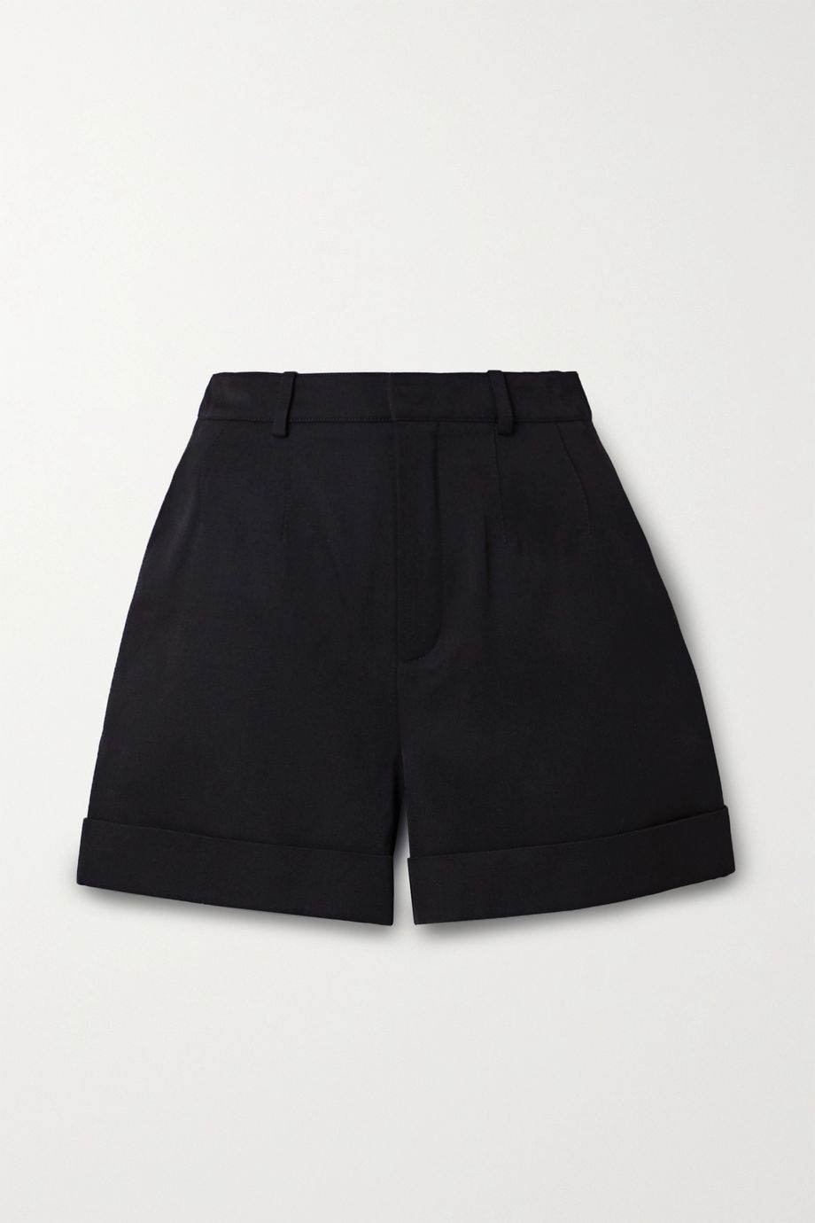 SAINT LAURENT Wool-twill shorts