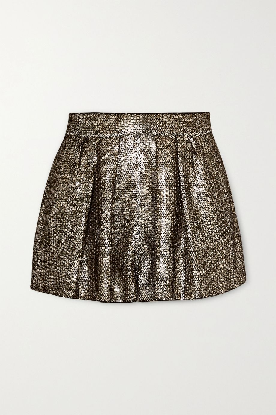 SAINT LAURENT Sequined crepe shorts